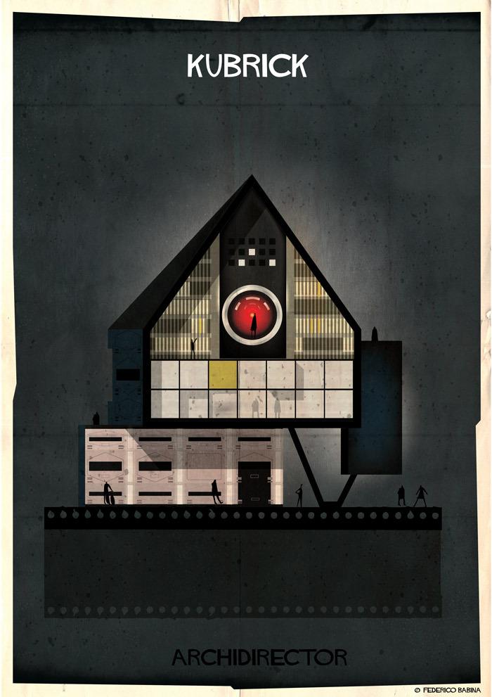 Federico Babina - la casa ispirata a Stanley Kubrick