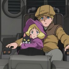 Mobile Suit Gundam - The Origin I - Blue-Eyed Casval: una scena tratta dal film