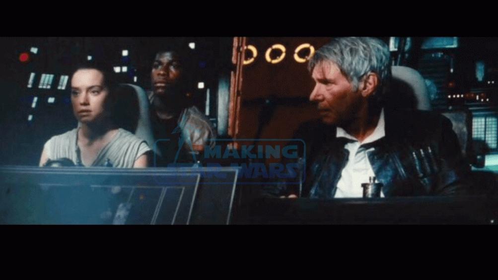 Il risveglio della forza: Han Solo alla guida del Falcon