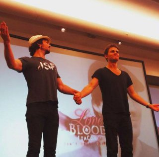 Love and Blood Convention a Roma - Paul Wesley e Ian Somerhalder