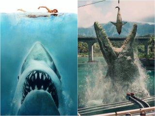 Mosasauro di Jurassic World come Lo squalo