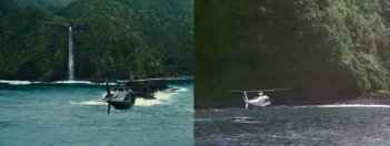 Jurassic Park e Jurassic World a confronto: arrivo a Isla Nublar
