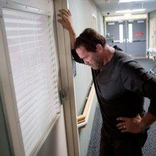Contagious: Arnold Schwarzenegger padre affranto dal contagio della figlia in una scena del film