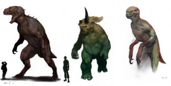 Ibridi umano/dinosauro in un primo concept per un Jurassic Park IV mai realizzato?
