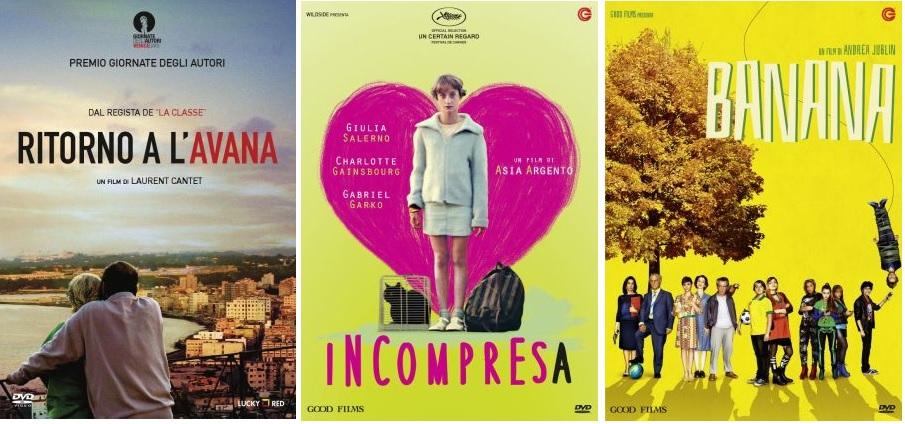 Le cover DVD di Incompresa, Ritorno a L'Avana e Banana