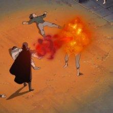 Naruto - Il film: La prigione insanguinata, una scena d'azione del film animato