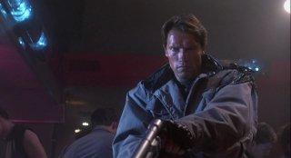 Terminator: Arnold Schwarzenegger in una scena del film