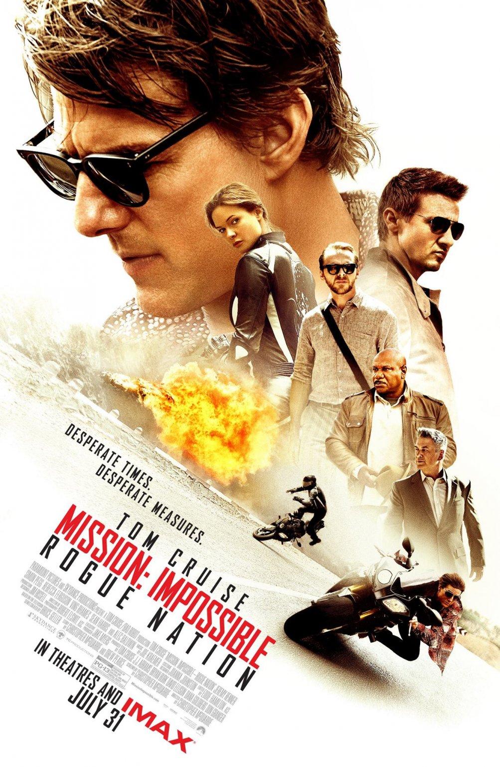 Mission: Impossible - Rogue Nation, un poster vede riunito tutto il cast