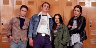 Freak and Geeks: un'immagine promozionale con Seth Rogen, Linda Cardellini, James Franco e Jason Segel
