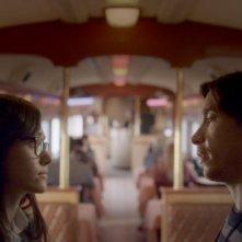 Comet: Justin Long ed Emmy Rossum in un'immagine del film di Sam Esmail