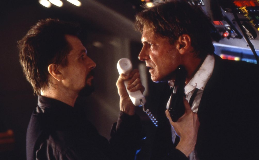 Gary Oldman e Harrison Ford in Air Force One
