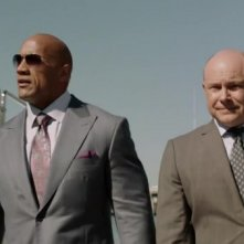 Ballers: Dwayne Johnson e Rob Corddry in una foto del primo episodio