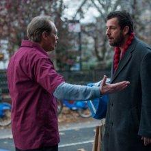 The Cobbler: Adam Sandler e Steve Buscemi in una scena del film di Thomas McCarthy