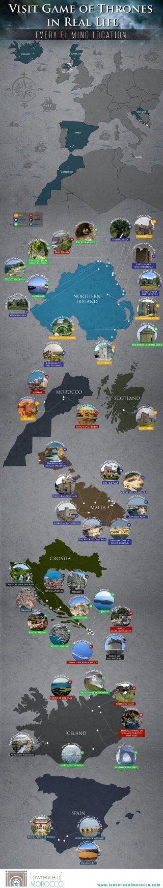 Il trono di spade: la mappa delle location