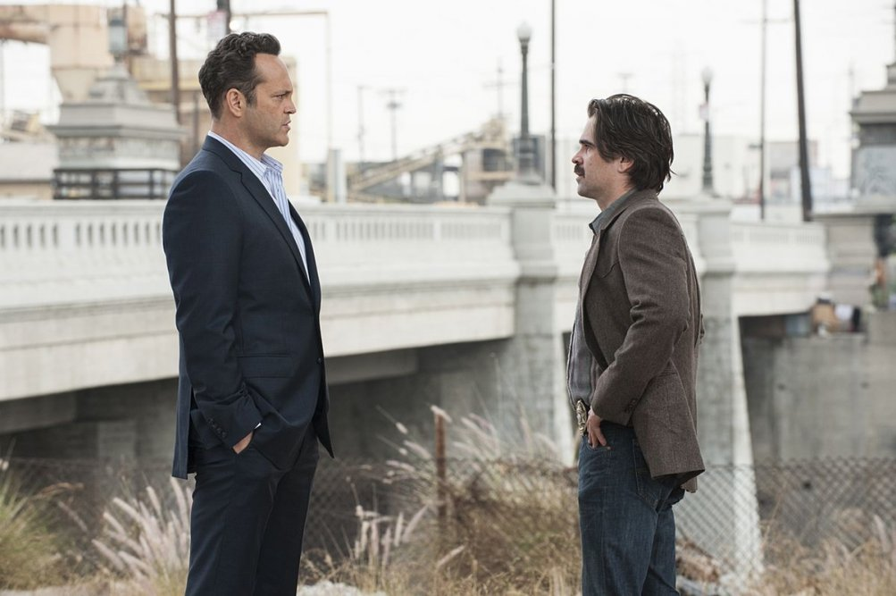 True Detective: Colin Farrell e Vince Vaughn in una scena dell'episodio Night Finds You