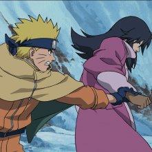 Naruto - Il film: La primavera nel paese della neve, una scena del film animato