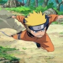 Naruto - Il film: La Leggenda della Pietra Gelel, una scena d'azione del film
