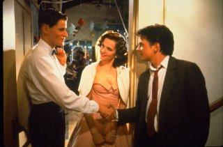 Ritorno al futuro: Michael J. Fox con Crispin Glover e Lea Thompson in una scena del film