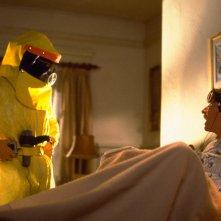 Ritorno al futuro: Michale J. Fox e Crispin Glover in una scena dle film