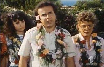 Jerry Calà con Gegia e Jenny Tamburi in Professione vacanze