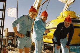 Le avventure acquatiche di Steve Zissou: Bill Murray in scena con Owen Wilson e Willem Dafoe