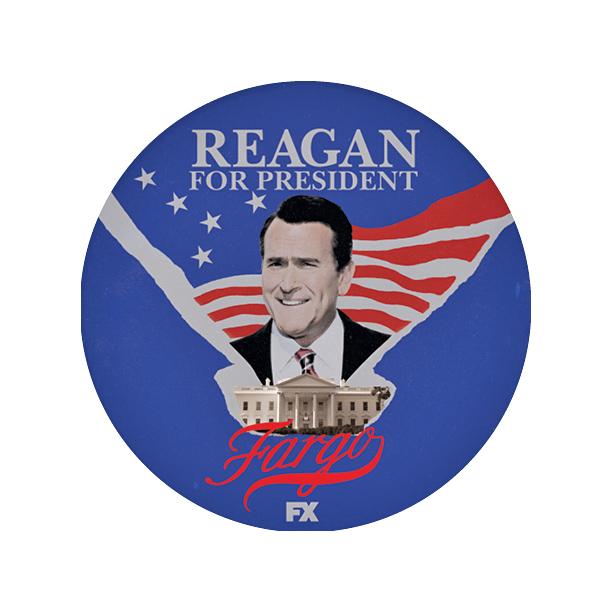 Fargo: Bruce Campbell nei panni di Ronald Reagan in un'immagine promozionale