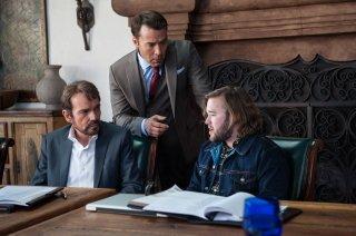 Entourage: Jeremy Piven, Billy Bov Thornton e Haley Joel Osment in una scena del film