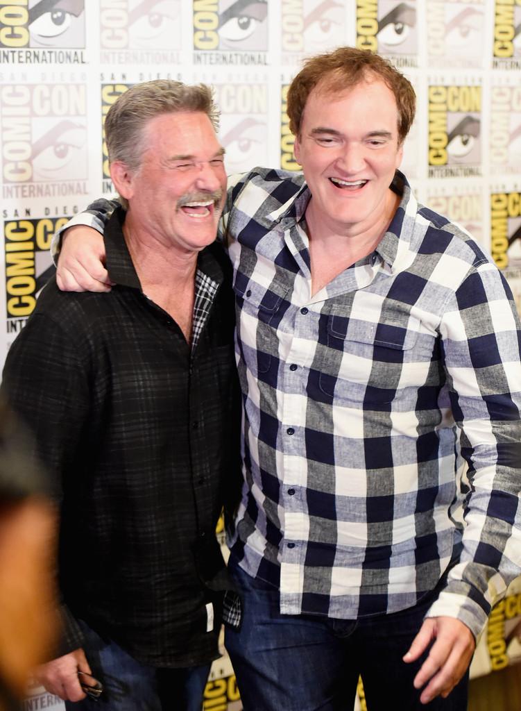Quentin Tarantino con Kurt Russell al Comic Con 2015