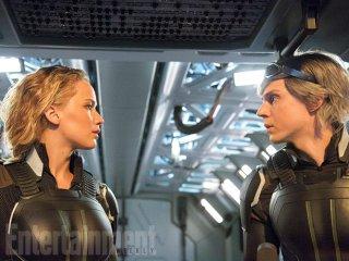 X-Men: Apocalypse: Jennifer Lawrence ed Evan Peters in una scena del film