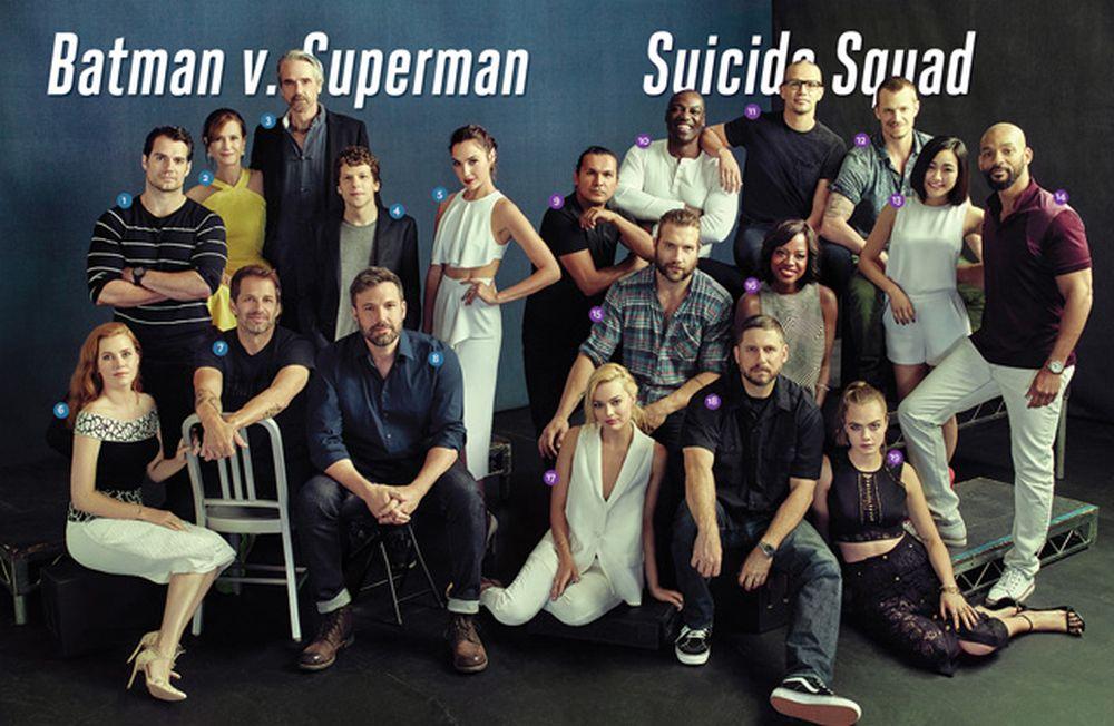 Batman v Superman: Dawn of Justice, Suicide Squad: foto di gruppo al San Diego Comic-Con