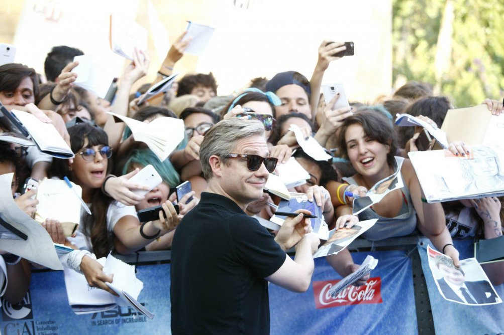 Martin Freeman con i fan a Giffoni Experience