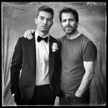 Zack Snyder con suo figlio Eli