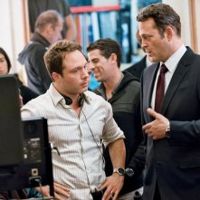 True Detective 2: Nic Pizzolatto e Vince Vaughn sul set