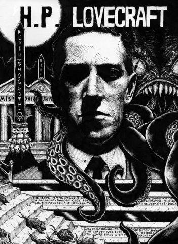 Un'illustrazione ispirata a H.P. Lovecraft