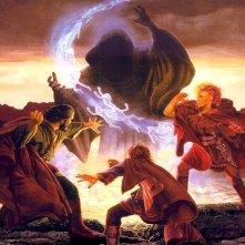 Un'illustrazione ispirata alla saga de La spada di Shannara di Terry Brooks