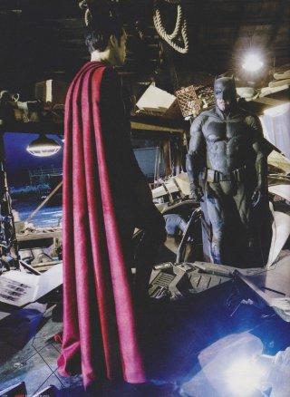 Batman v Superman: Dawn of Justice - Henry Cavill e Ben Affleck durante una pausa delle riprese