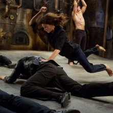 Mission: Impossible - Rogue Nation: Rebecca Ferguson in una scena d'azione del film