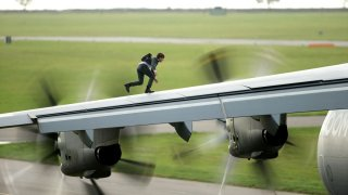 Mission: Impossible - Rogue Nation: Tom Cruise in azione in una scena