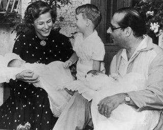 La famiglia di Ingrid Bergman e Roberto Rossellini