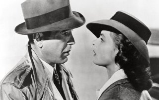 Una scena di Casablanca con Ingrid Bergman e Humphrey Bogart
