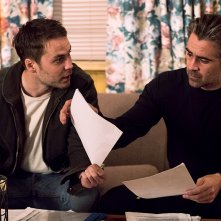 True Detective: gli attori Taylor Kitsch e Colin Farrell in Black Maps and Motel Rooms
