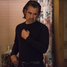 True Detective: l'attore Colin Farrell in una scena dell'episodio Black Maps and Motel Rooms
