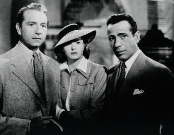 Casablanca: una pscena con Paul Henreid, Ingrid Bergman e Humphrey Bogart