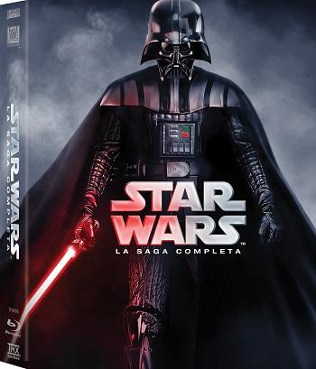La cover del cofanetto con la saga di Star Wars
