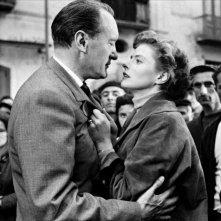 Ingrid Bergman e George Sanders in Viaggio in Italia