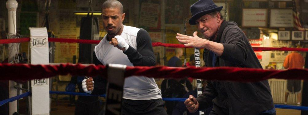 Michael B. Jordan con Stallone in Creed
