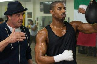 Creed - Sylvester Stallone e Michael B. Jordan nel film