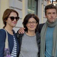 In un posto bellissimo: Isabella Ragonese, Giorgia Cecere e Alessio Boni in un'immagine promozionale del film