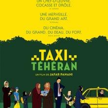 La locandina francese di Taxi Teheran