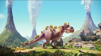 Minions: decine di Minion in compagnia di un T-Rex